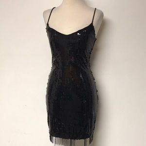 """Vintage """"Guess"""" Sequined Formal Gown"""